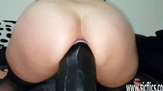 Massive dildos wreck her greedy pussy Porn Videos