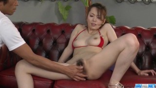 Ravishing pussy play for needy Yui Hatano