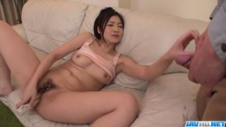 Ryu Enami amazing POV blowjob after harsh toy porn
