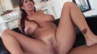 Busty asian milf dominated by three black dudes