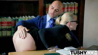 Curvy AJ Applegate Punished By Her Boss
