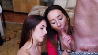 Sally and Gigi give Frankie a stemaing blowjob