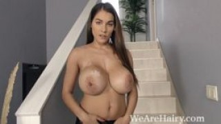 Mischel Lee strips and masturbates on her stairs