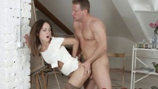 Teens asshole rough fucked in doggystyle