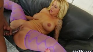 Porn star honey gets her anal drilled with massive love stick