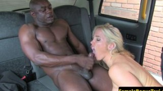 Busty British cabbie gal plowed by black cock
