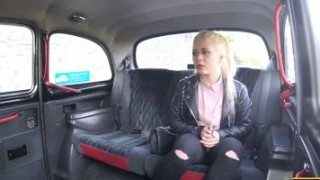 Blonde Anna gets fucked in missionary position by the taxi driver