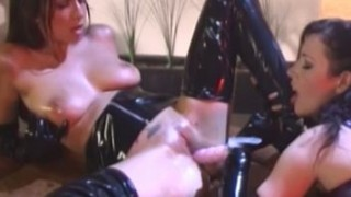 Dyke succubus Tiffany Taylor toying and wanking in latex Porn Videos