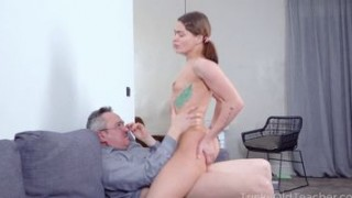 Tricky Old Teacher - Babe Rewards Old Teacher with A Crazy Fuck Action Porn Videos